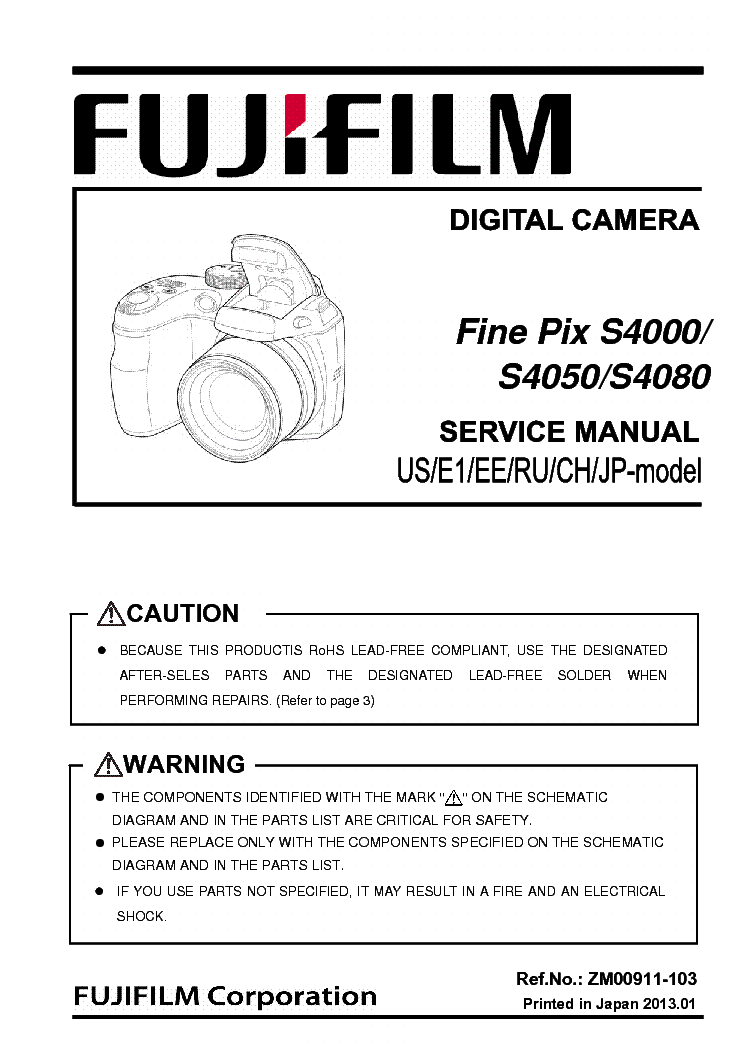 fujifilm finepix a310 sm service manual download