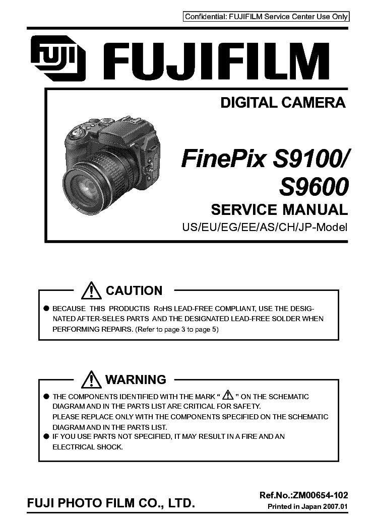 fuji finepix f650 digital camera service manual