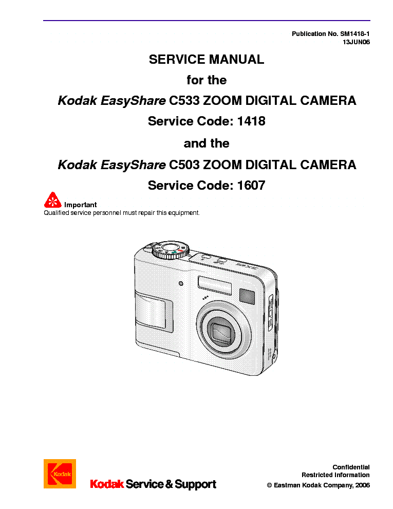 kodak easyshare c c sm service manual free download, schematic