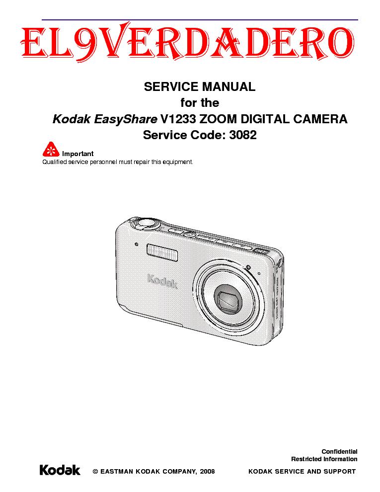kodak easyshare c315 c530 cd50 service manual download