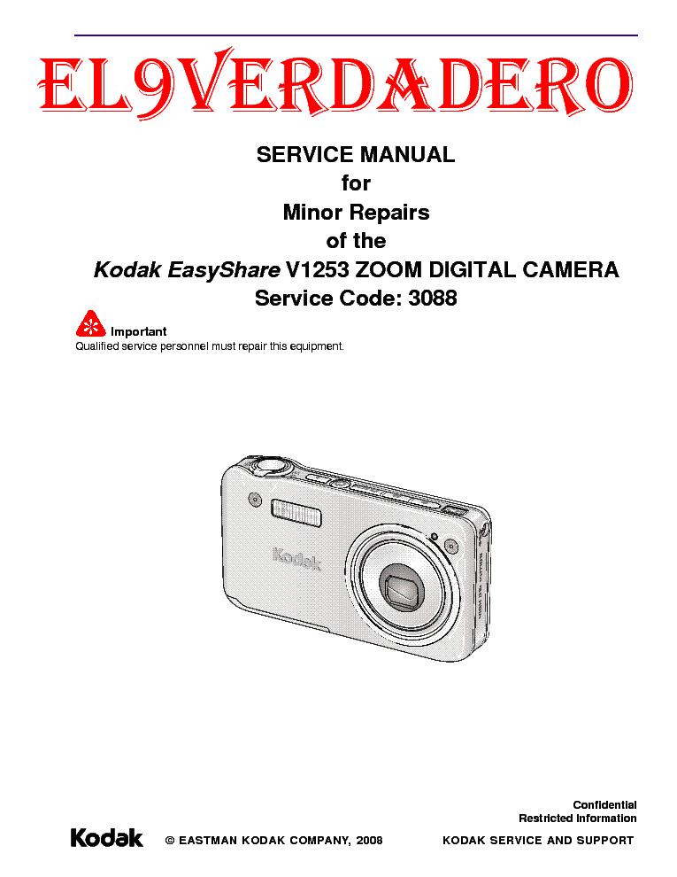 kodak v1253 sm service manual download schematics eeprom repair rh elektrotanya com