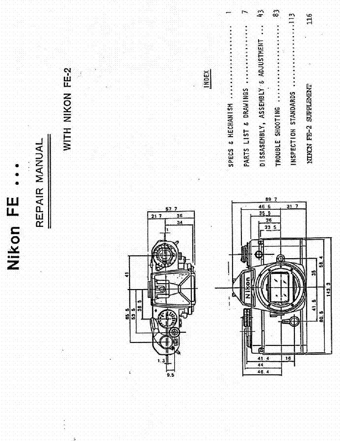nikon fe fe2 service manual download schematics eeprom repair rh elektrotanya com nikon fe repair manual nikon fe2 repair manual