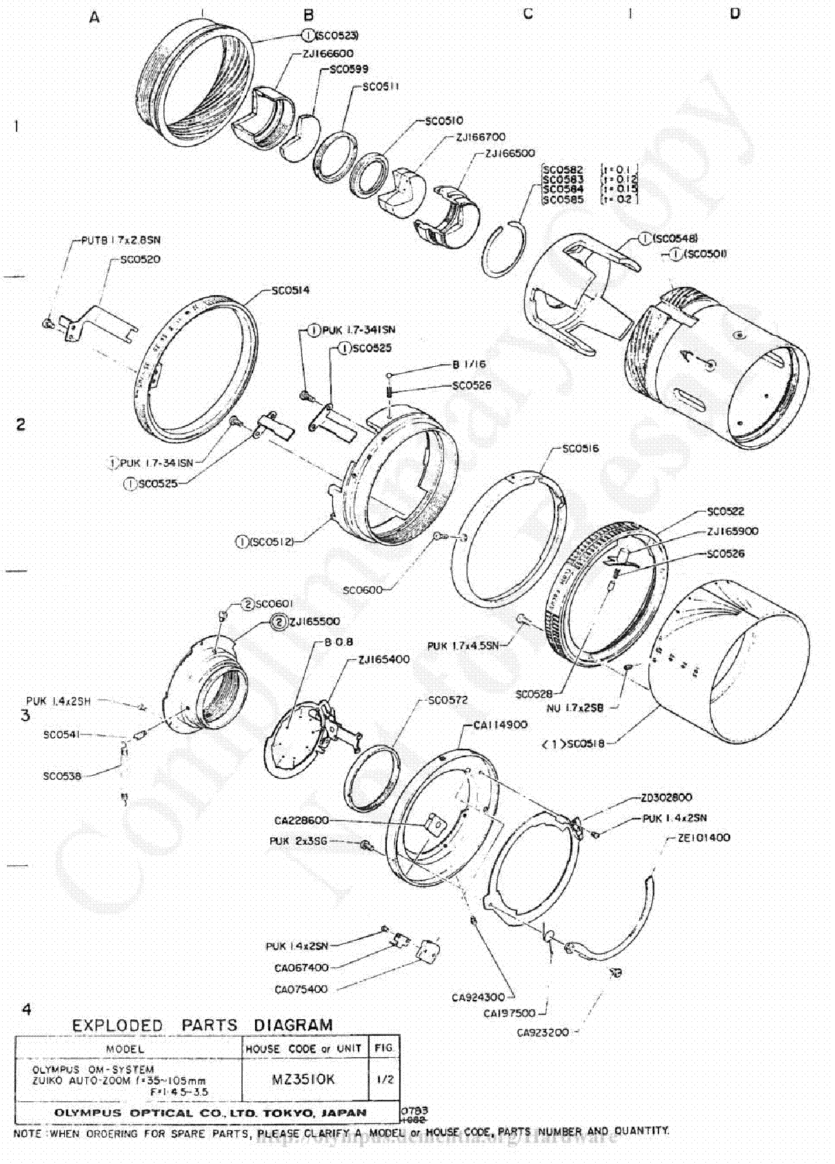 olympus 18mm f3 5 exploded parts diagram service manual download  schematics  eeprom  repair