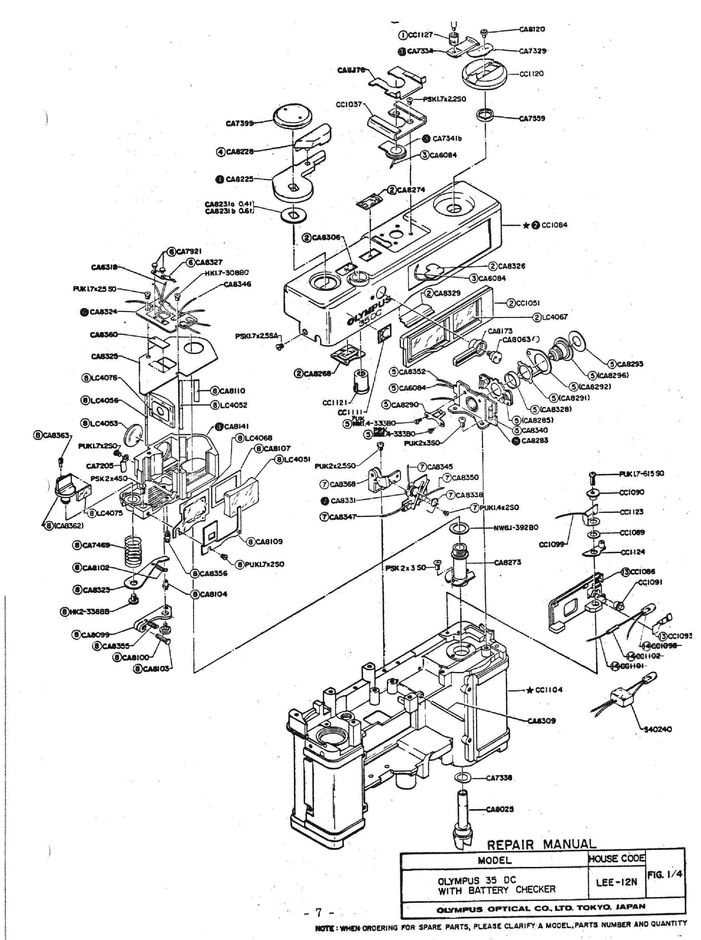 olympus 35dc exploded parts diagram service manual download  schematics  eeprom  repair info for
