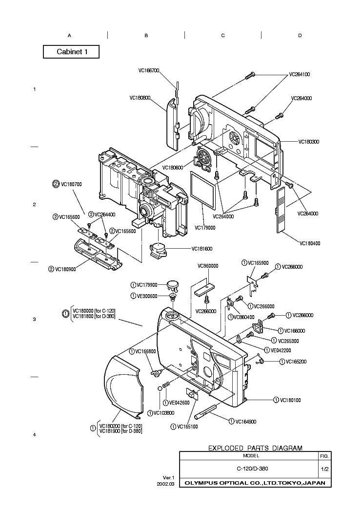 Olympus C 120 D 380 Service Manual Download Schematics Eeprom