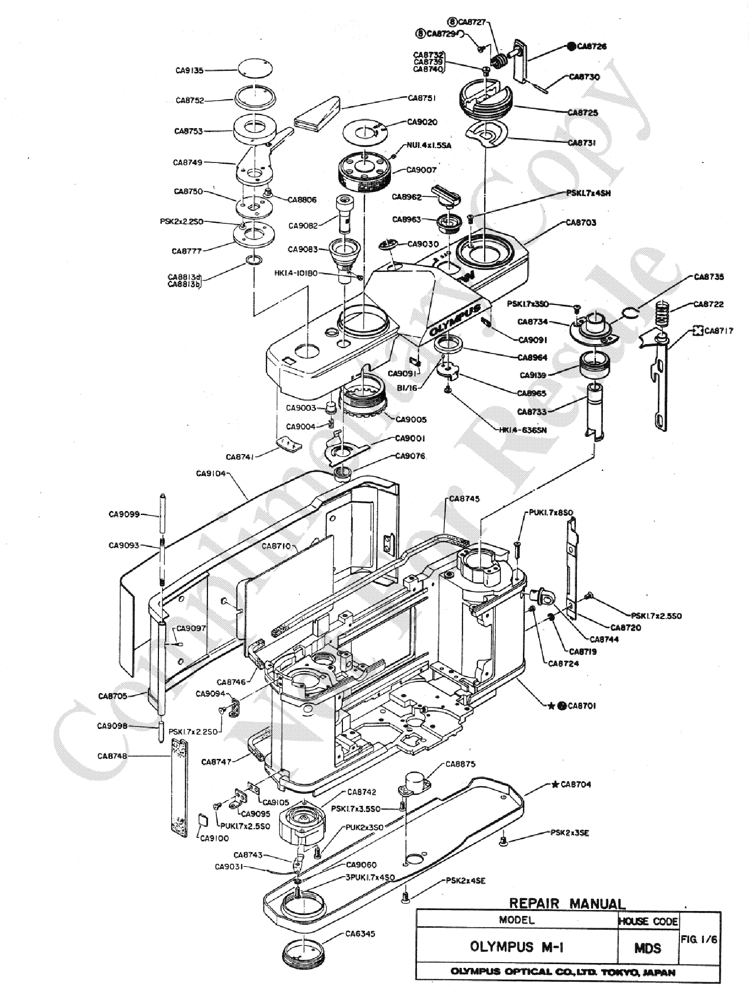 olympus om 1 exploded parts diagram service manual free download  : exploded parts diagram - findchart.co