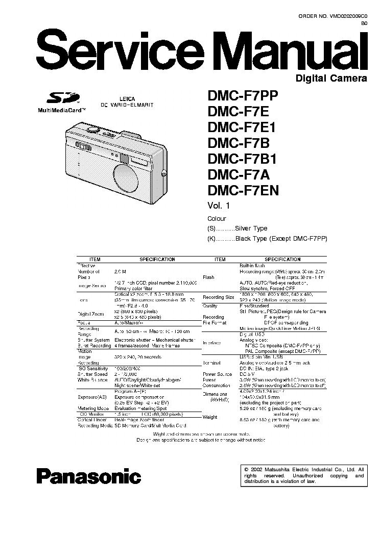 panasonic dmc tz5 tz15 sm service manual download schematics rh elektrotanya com Parts Manual Parts Manual