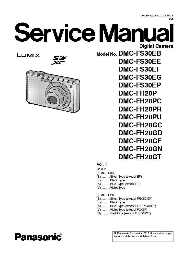 panasonic dmc fh20 fs30 service manual download schematics eeprom rh elektrotanya com