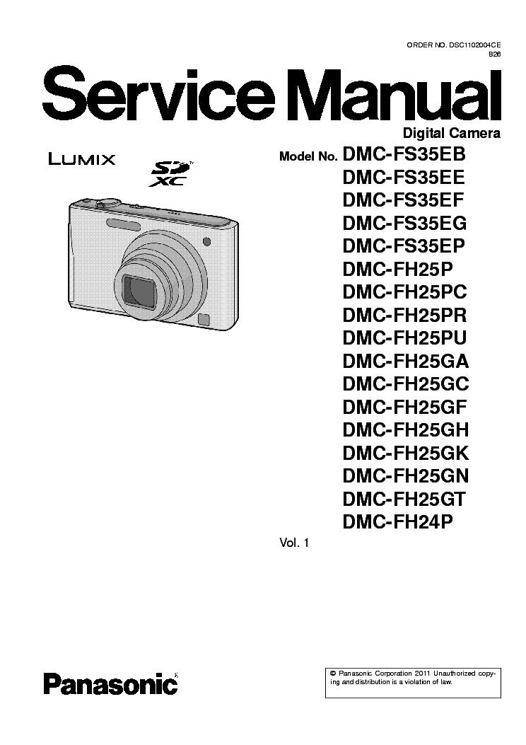 panasonic dmc fh24 dmc fh25 dmc fs35 service manual download rh elektrotanya com Newest Panasonic Lumix Camera Newest Panasonic Lumix Camera