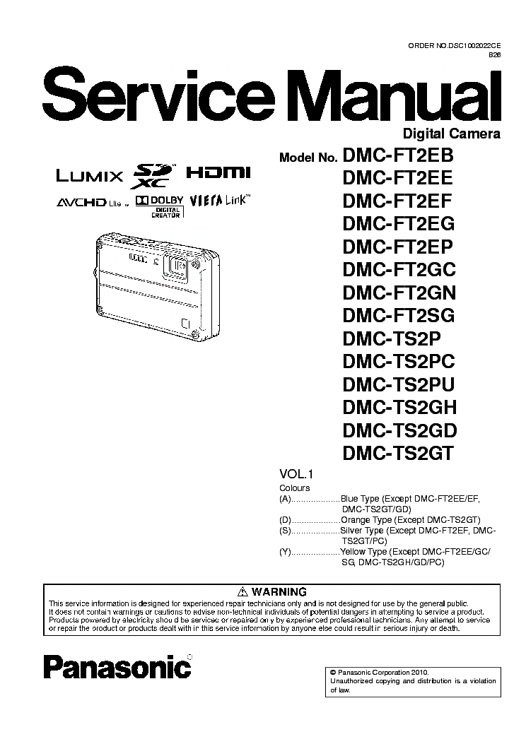 panasonic dmc ls70 ls75 service manual download schematics eeprom rh elektrotanya com Manual Panasonic Toughbook Panasonic TV Manual