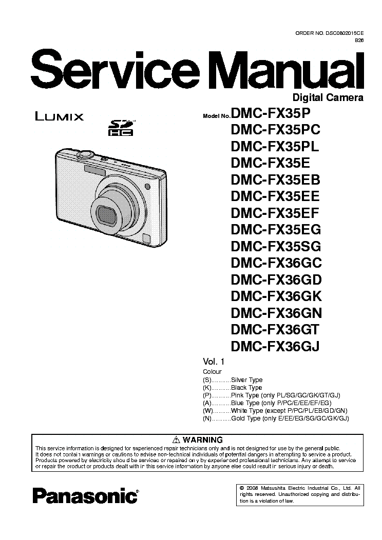 panasonic dmc fx35 service manual download schematics eeprom rh elektrotanya com Panasonic Manuals Servo Motors Panasonic Cordless Phones