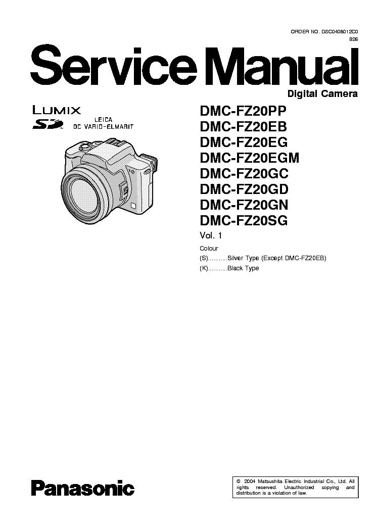dmc fz20 service manual disassembly how to and user guide rh taxibermuda co Lumix DC Vario Charger Panasonic Lumix DMC-TZ3