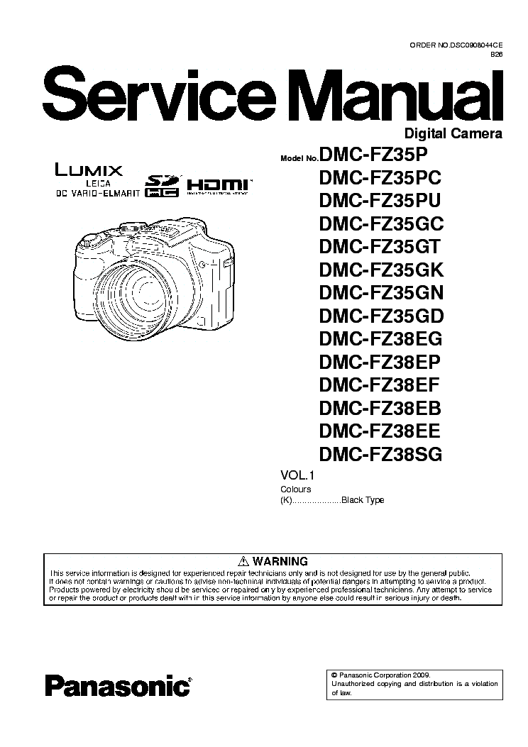 panasonic dmc fz35 38xx sm service manual download schematics rh elektrotanya com Panasonic DMR ES40V Manual Manual Panasonic Radio