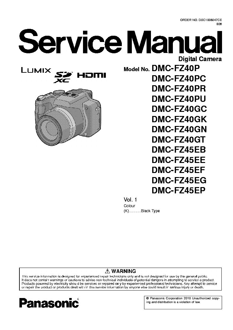 panasonic dmc fz40 fz45 sm service manual download schematics rh elektrotanya com Panasonic TV Manual Panasonic TH-37PX50U Manual