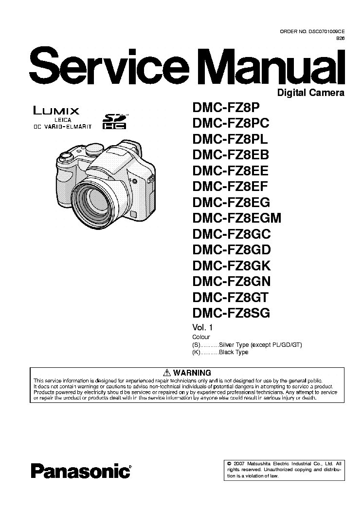 panasonic dmc fz8 service manual download schematics eeprom rh elektrotanya com Camera Bag for Panasonic Lumix DMC LX7 Panasonic Lumix DMC- FZ50