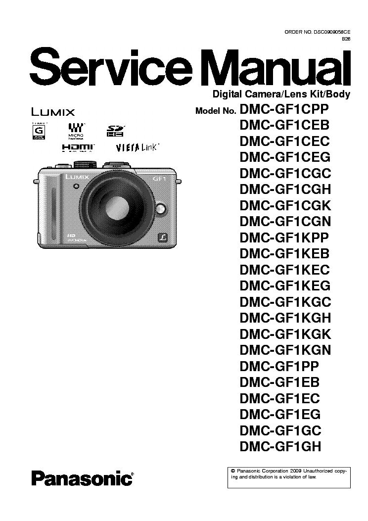 panasonic dmc gf1 xx sm service manual download schematics eeprom rh elektrotanya com panasonic lumix gf1 manual pdf Four Thirds Camera Lumix