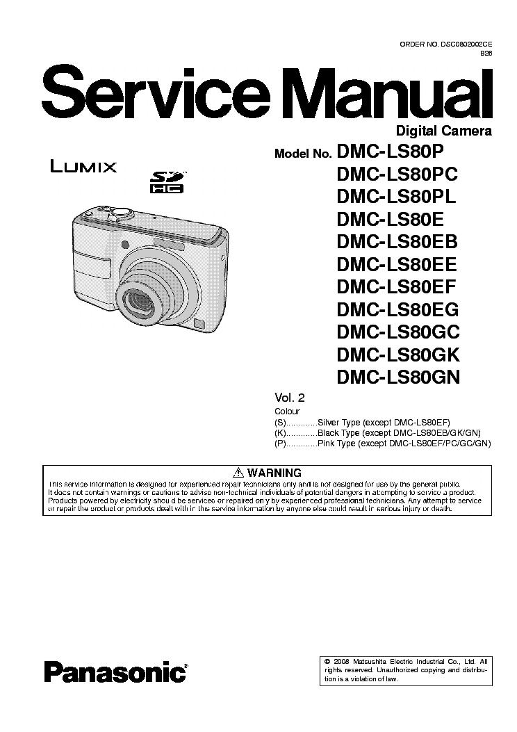 panasonic dmc ls80 vol2 service manual download schematics eeprom rh elektrotanya com panasonic lumix ls80 manual Panasonic DMC ZS8 Manual