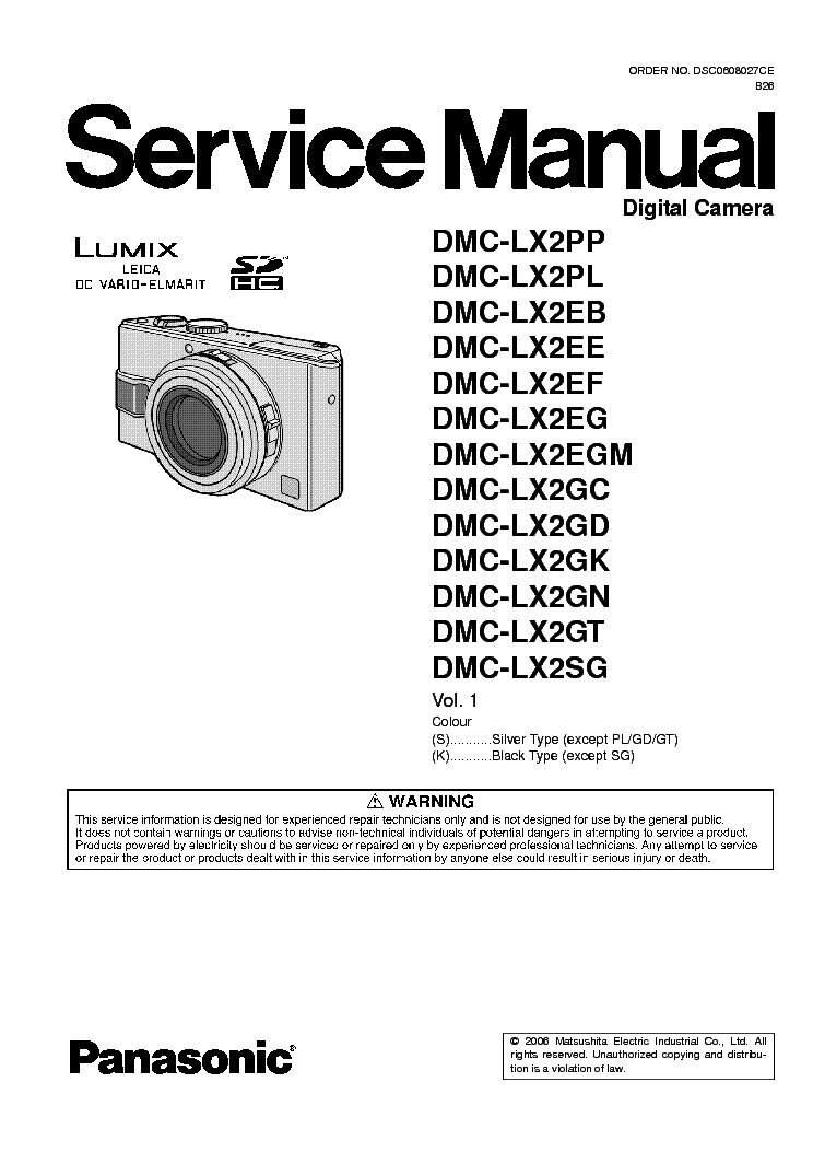 panasonic dmc lx2 service manual download schematics eeprom rh elektrotanya com panasonic dmc-lx2 manual pdf panasonic dmc-lx2 manual pdf