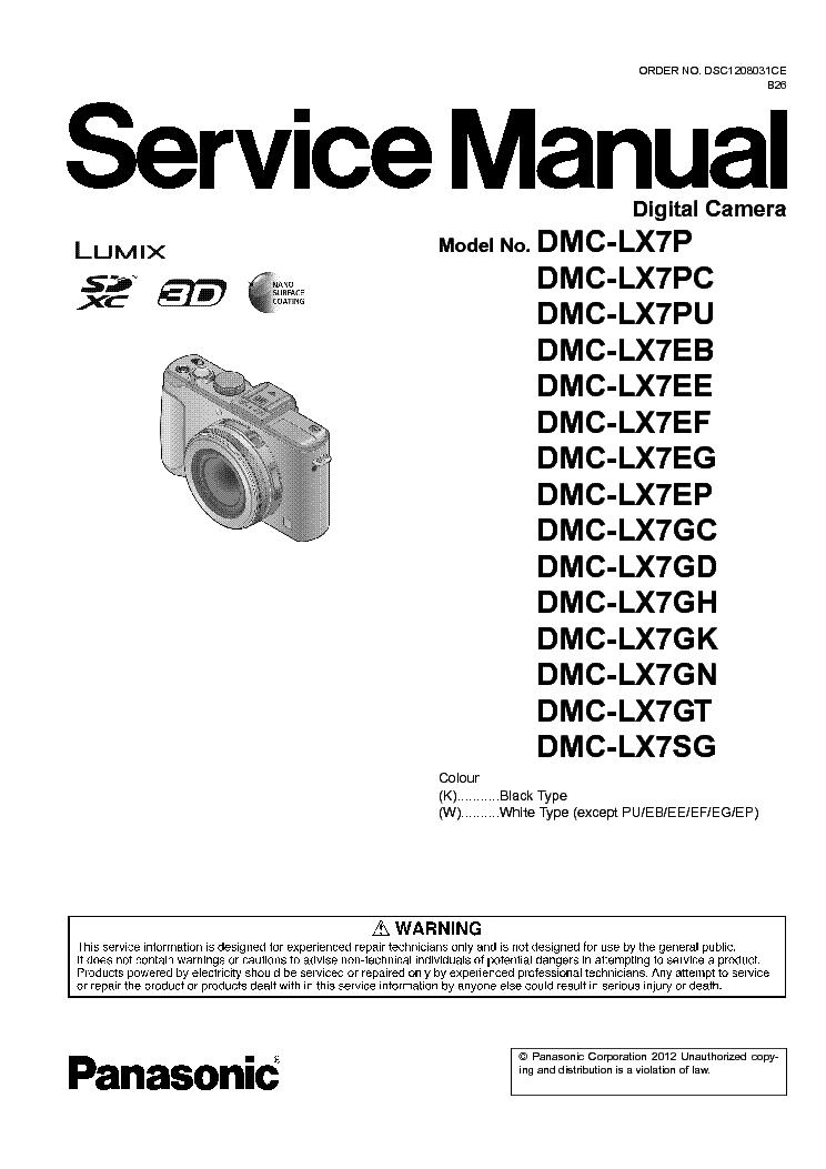 panasonic dmc lx7 p pc pu eb ee ef eg ep gc gd gh gk gn gt sg sm rh elektrotanya com Panasonic Lumix DMC- GF2 Panasonic Lumix DMC- GF1