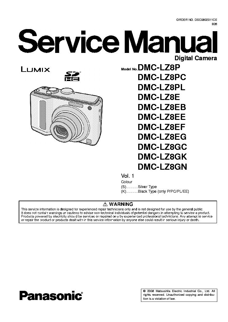 panasonic dmc lz8 sm service manual download schematics eeprom rh elektrotanya com Repair Manuals Repair Manuals
