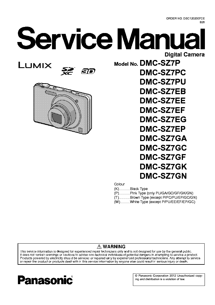 panasonic lumix dmc tz2 xx tz3 xx sm service manual download rh elektrotanya com Panasonic Lumix DMC- FZ50 Panasonic Lumix DMC- GF1