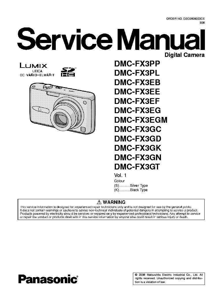 panasonic lumix dmc fx3 xx sm service manual download schematics rh elektrotanya com Pinball FX3 Pinball FX3
