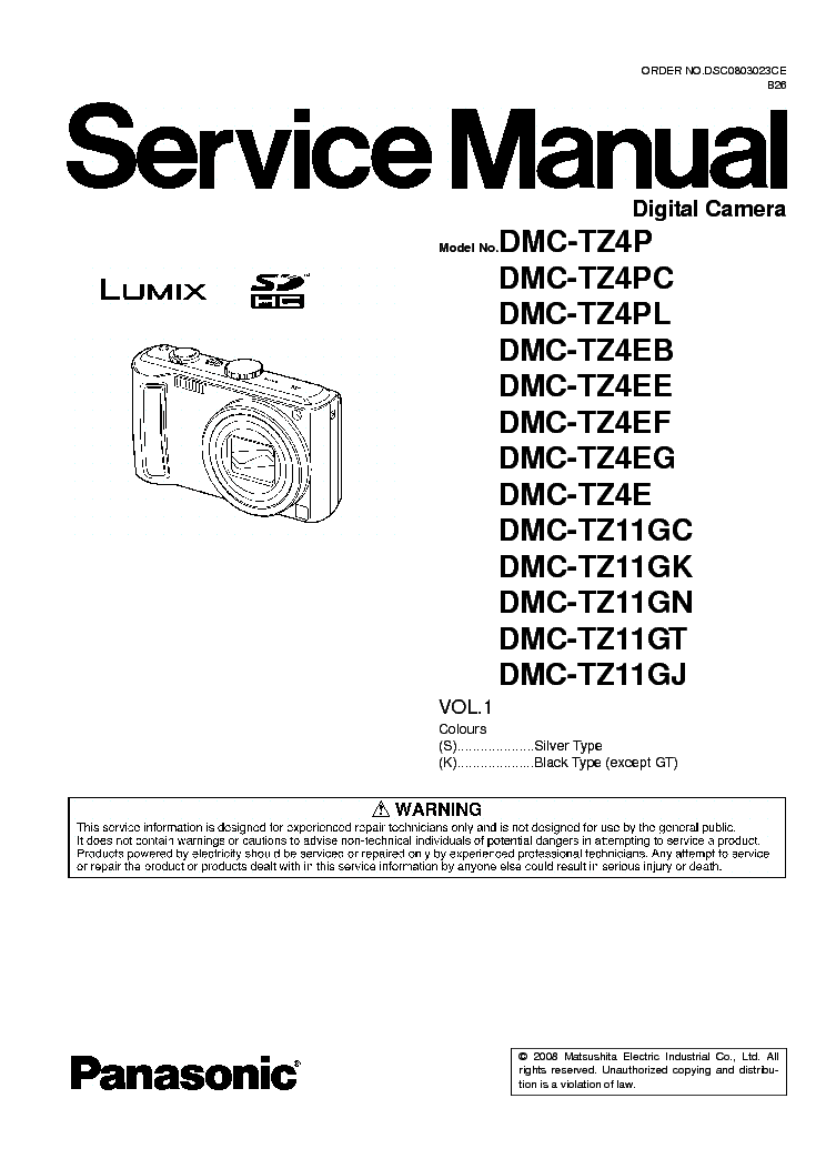 panasonic lumix dmc tz4 dmx tz11 service manual download schematics rh elektrotanya com Panasonic DMC- TZ5 Replacement Panasonic Dmc- Tz60