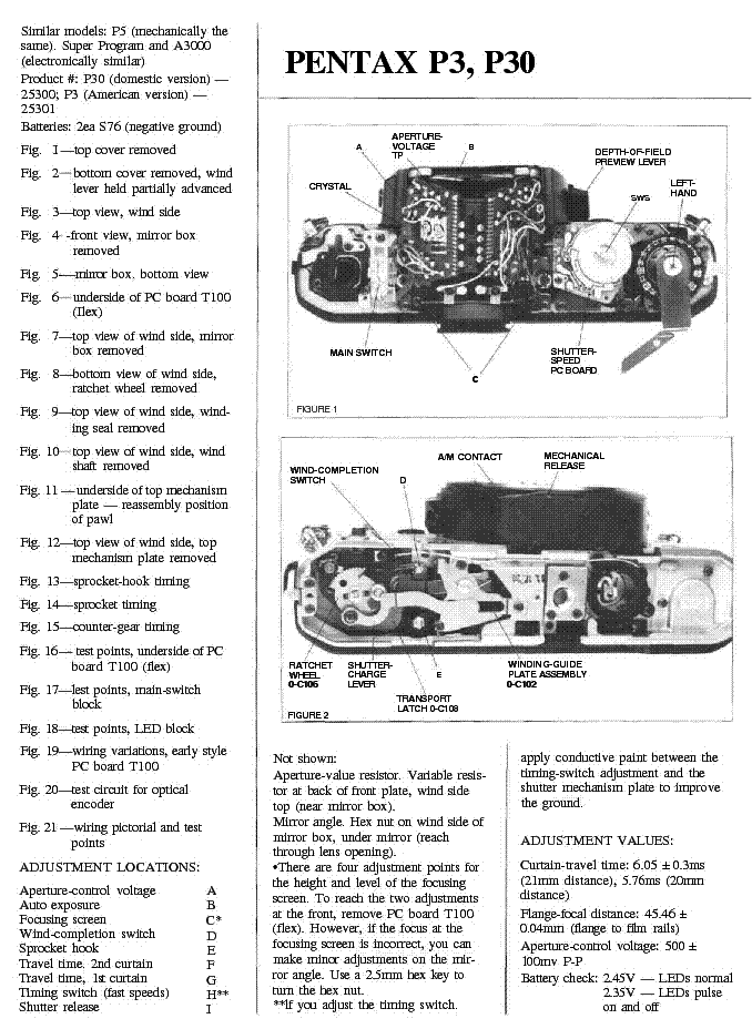 pentax p3 p30 service manual download schematics eeprom repair rh elektrotanya com pentax s3 service manual pentax k100d service manual