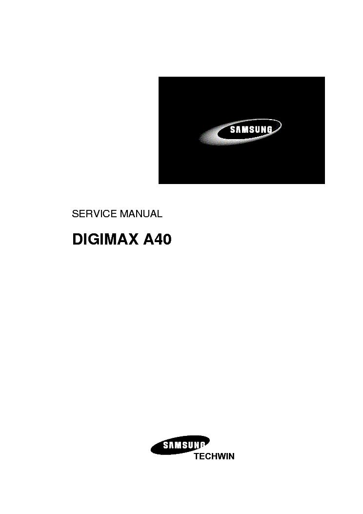 Samsung Digimax A40 Sm Service Manual Download  Schematics
