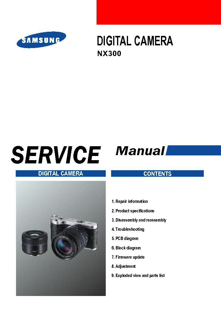 SAMSUNG NX300 Service Manual download, schematics, eeprom