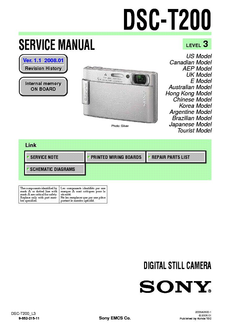 sony dsc t200 level 3 ver 1 1 service manual download schematics rh elektrotanya com Sony Digital DSC-T200 Camera Sony Digital DSC-T200 Camera