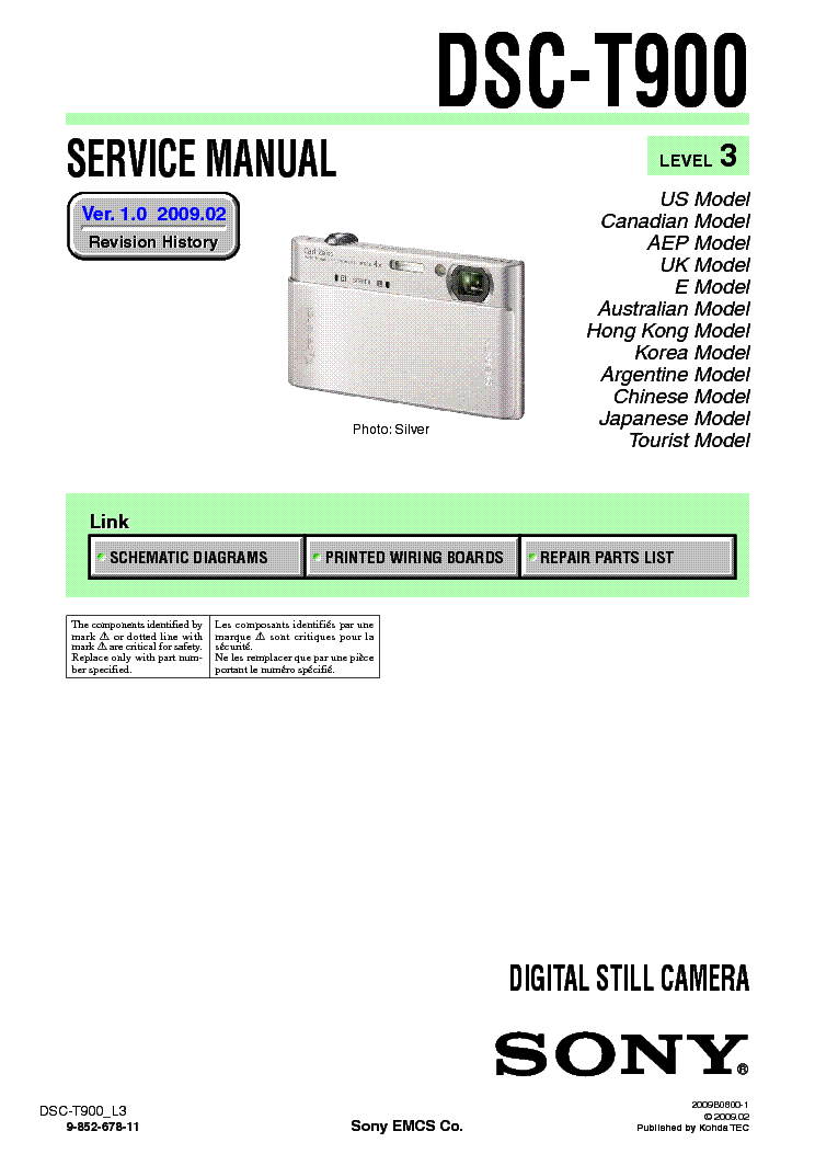 Sony dsc-t900 cyber-shot download instruction manual pdf.
