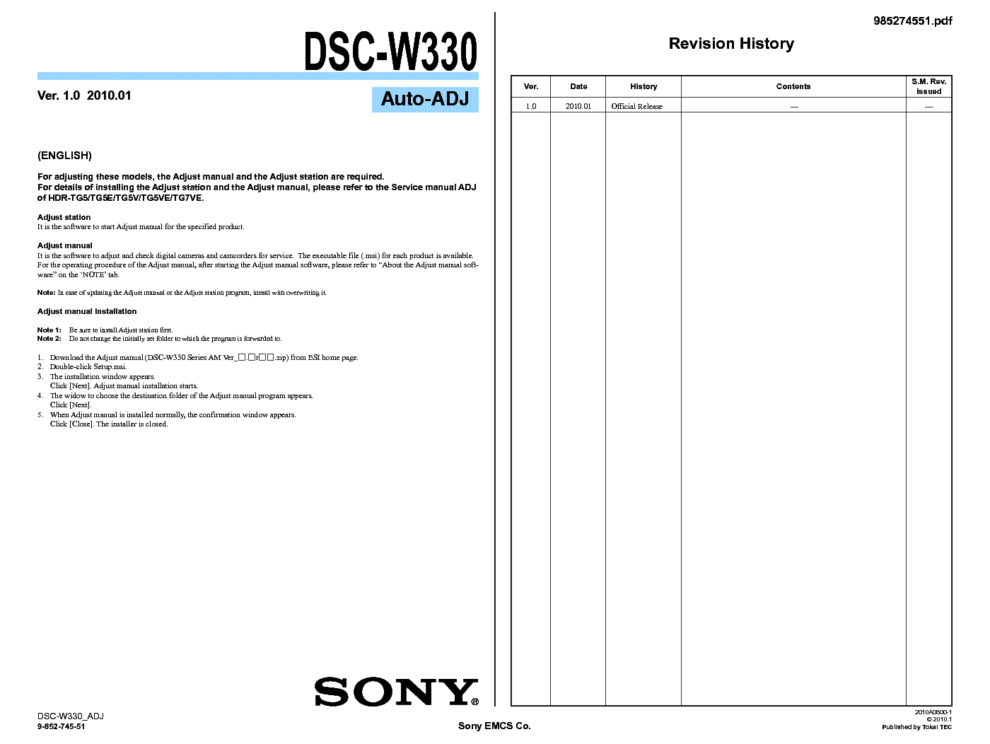 Sony cyber-shot-dsc-w330-141-mp-digital-camera-manual.