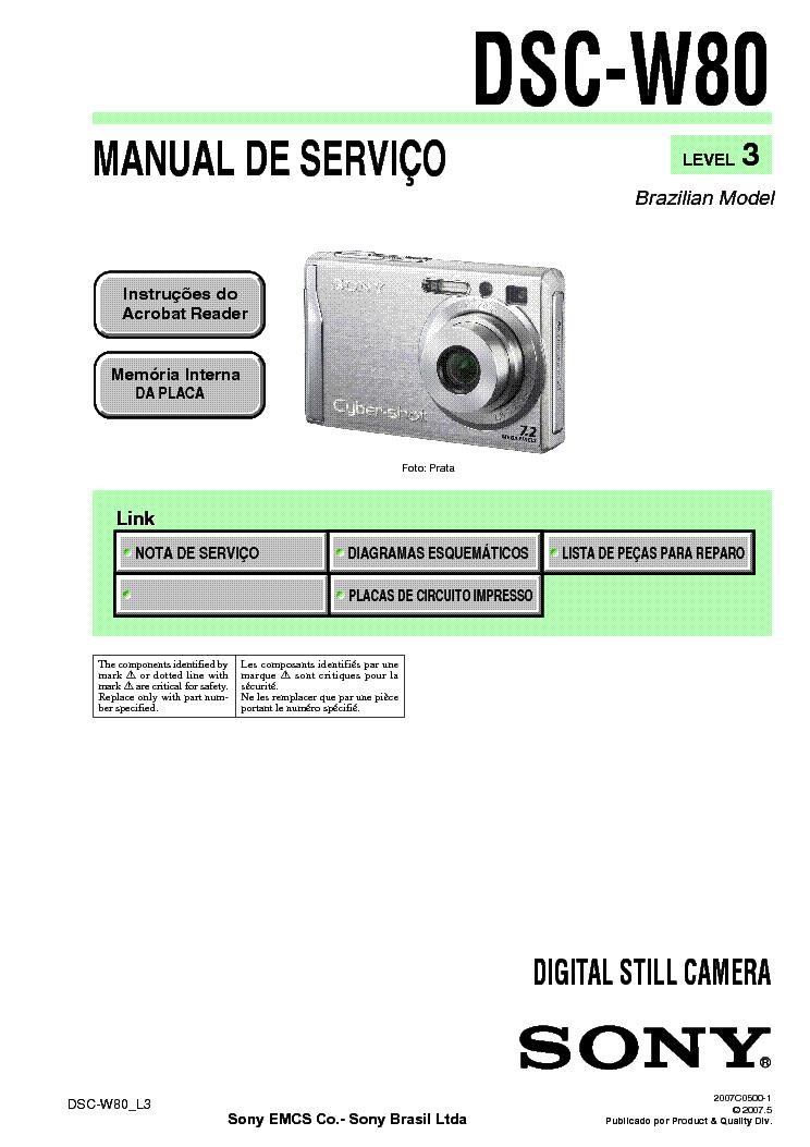 Sony dscw80 manual download