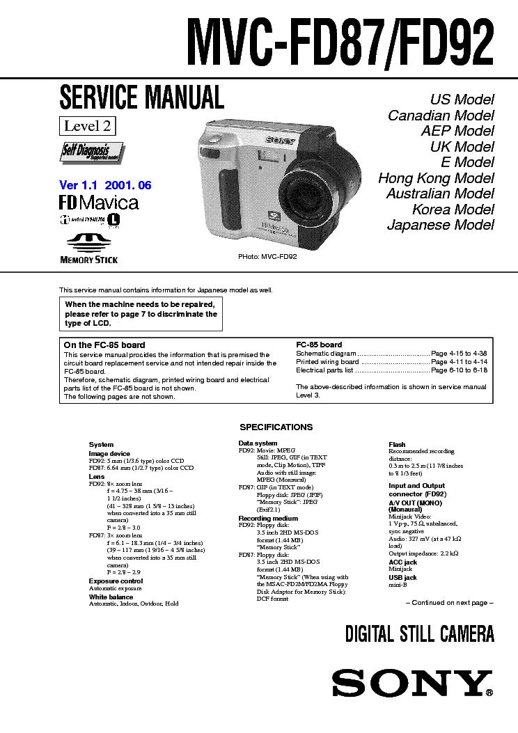 SONY DSC-W690 LEVEL 2 SM Service Manual download, schematics