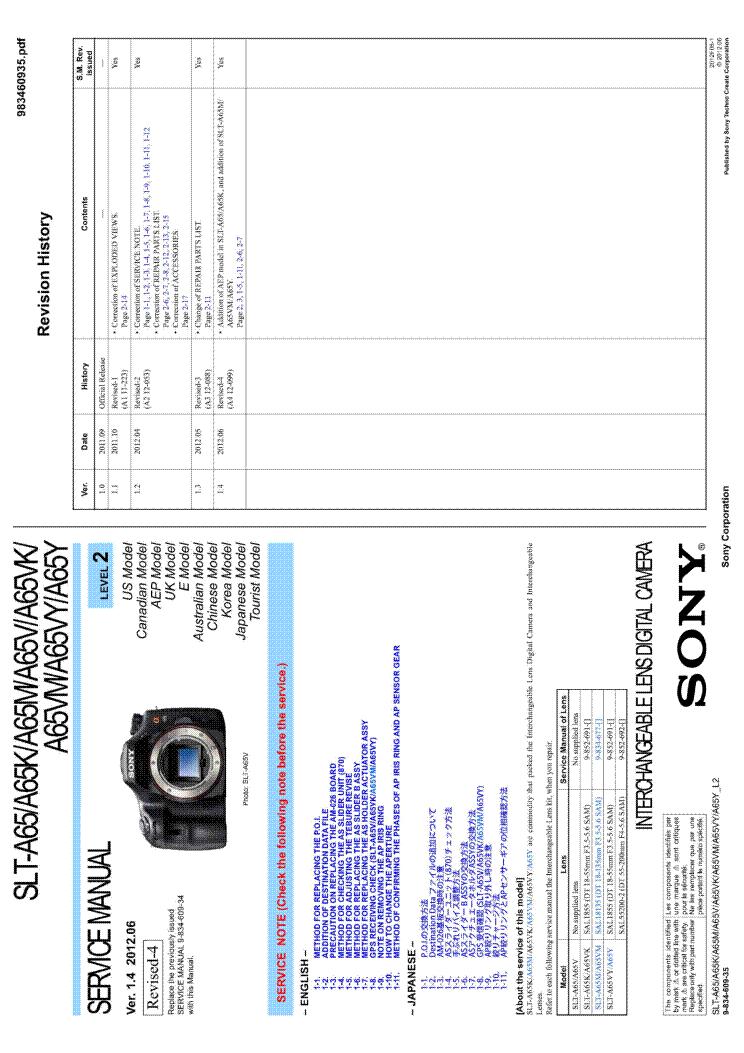 Sony A65 Manual Pdf