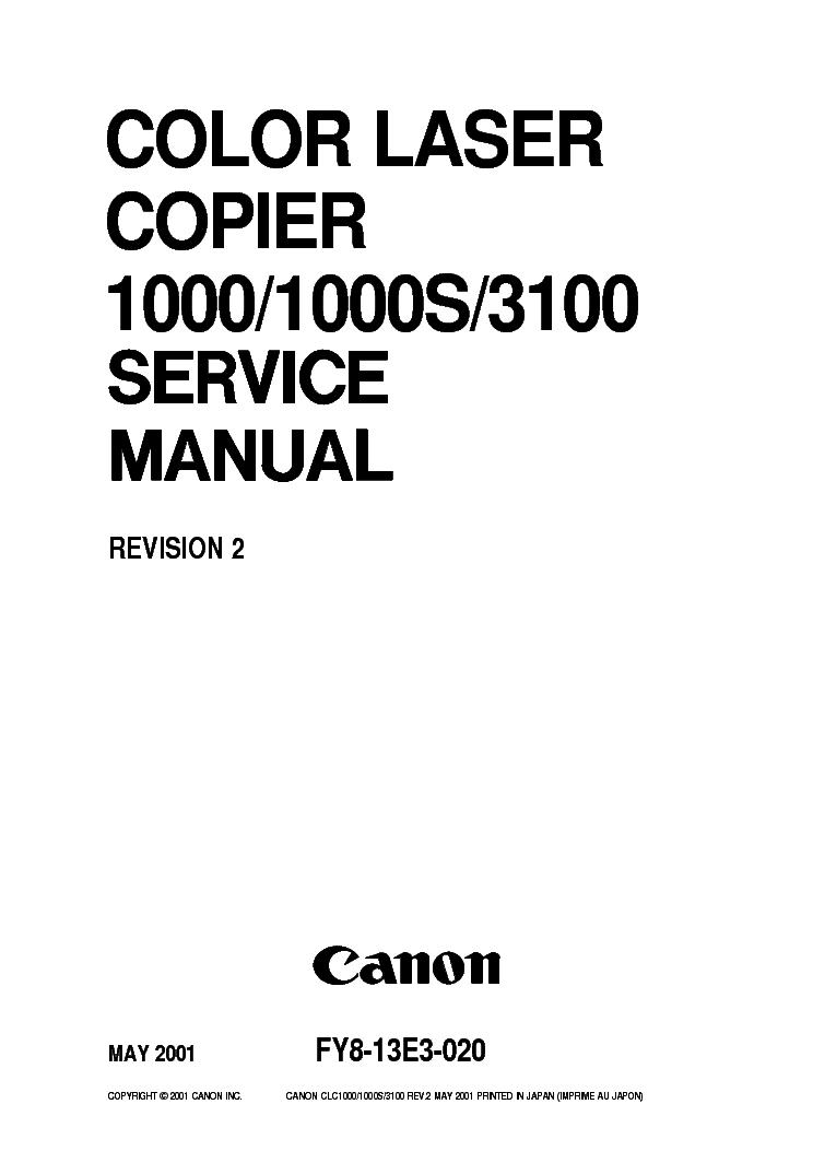 Canon np6512 np6612 np7120 np7130 np7130f service manual copier pho.