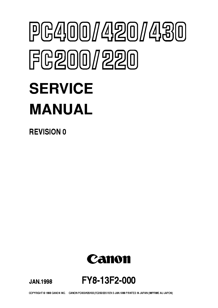 Canon Gp405 Service Manual Pdf