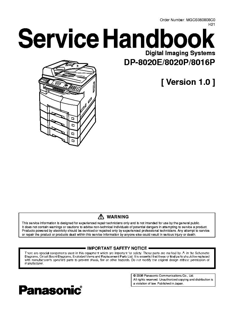 Panasonic WORKiO DP-8020 GDI Printer Driver for PC