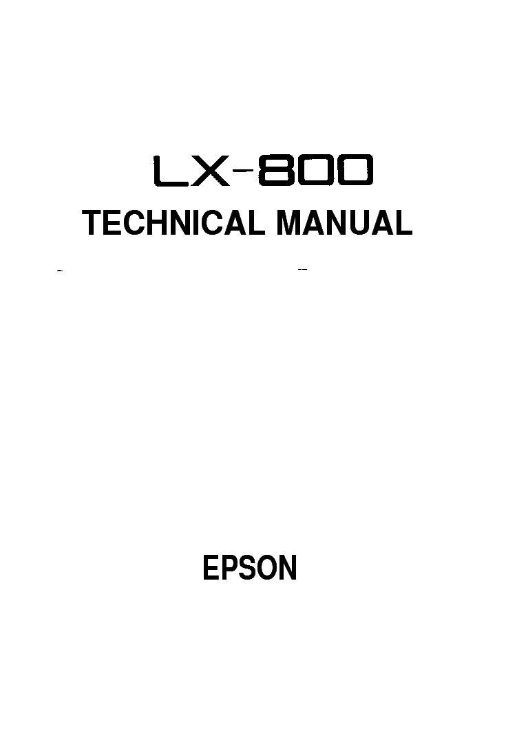 EPSON LX-800 SM service manual (1st page)