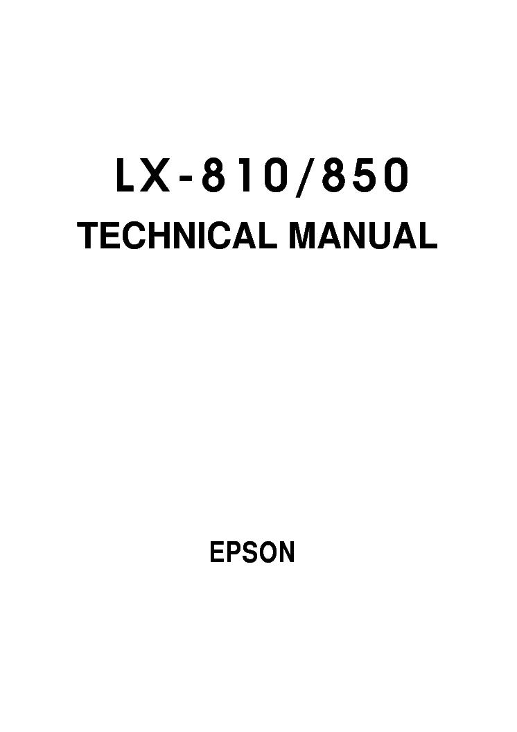 epson lx 810 lx 850 sm service manual download schematics eeprom rh elektrotanya com manual epson lx 810 español gratis manual epson lx-810l em portugues