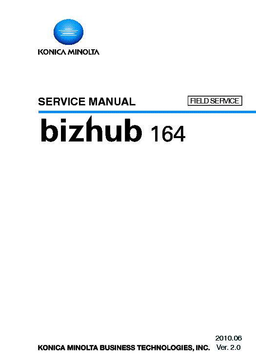konica minolta bizhub 164 sm service manual download schematics rh elektrotanya com Coby 7022 Coby Kyros 7022