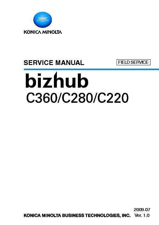 konica minolta bizhub c360 c280 c220 sm service manual download rh elektrotanya com bizhub c452 service manual bizhub 421 service manual