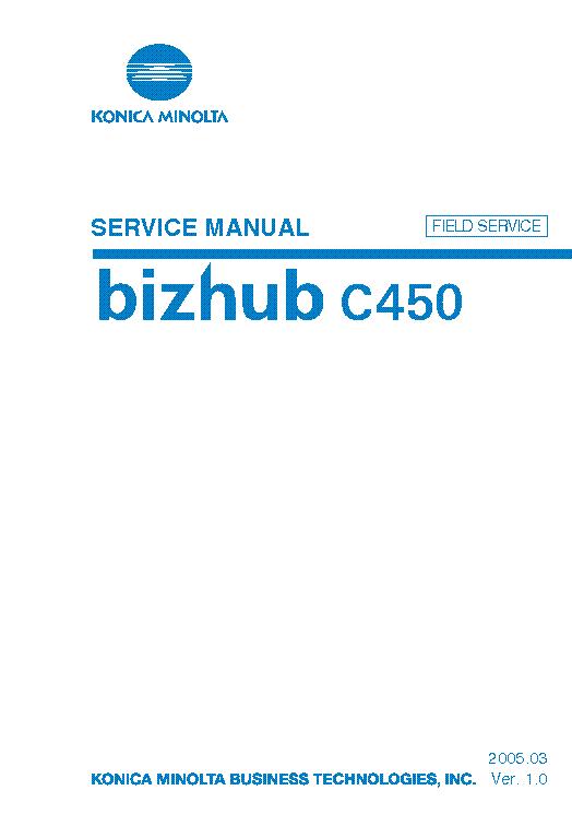 konica minolta bizhub c450 sm service manual download schematics rh elektrotanya com Konica Minolta Bizhub C460 Konica Minolta Bizhub C458