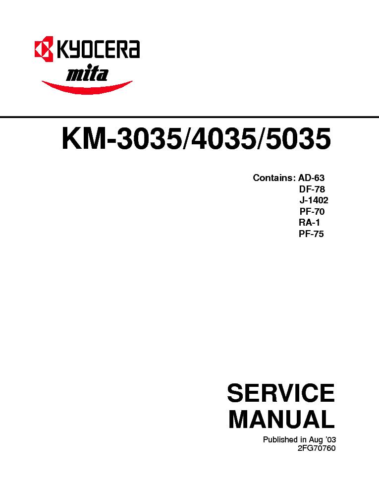 Kyocera km3035 km4035 km5035 service manual&parts list download m.