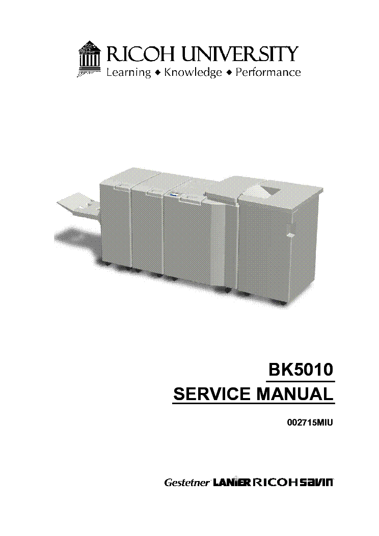 Ricoh Mp 1500 Service Manual