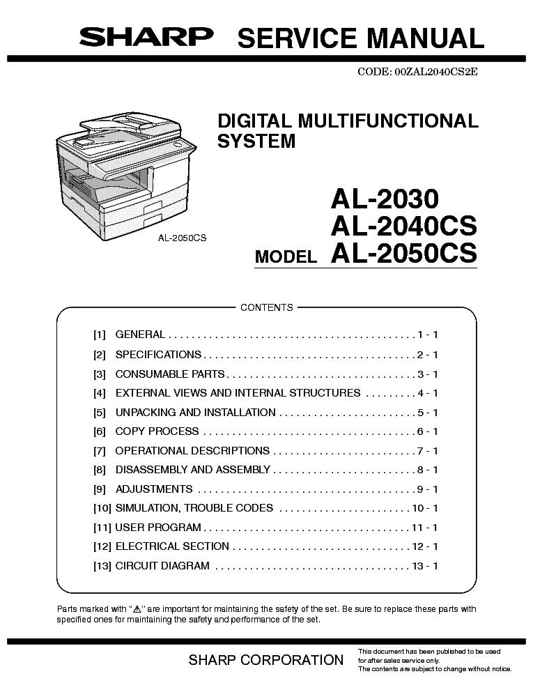 sharp al 2030 al 2040cs al 2050cs service manual download rh elektrotanya com sharp al 2050cs manual manual de copiadora sharp al-2050cs en español