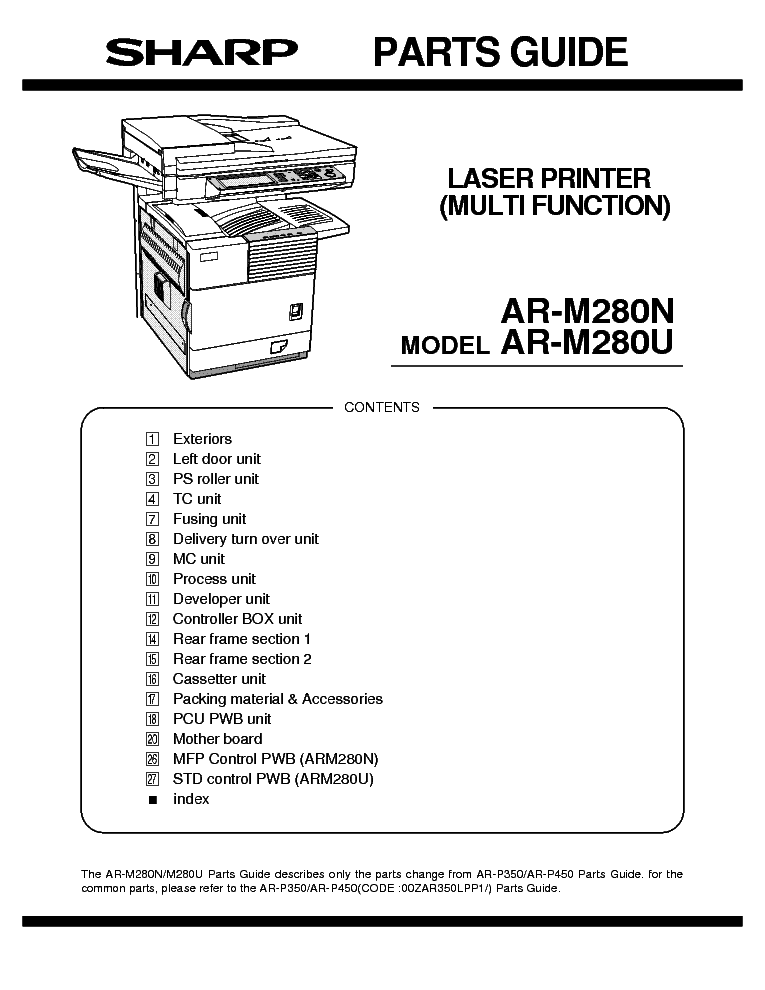 sharp ar m550n u ar m620n u ar m700n u service manual