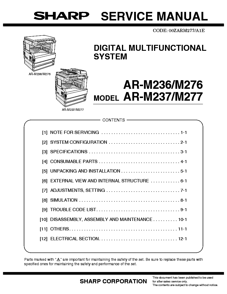 Sharp ar-m258, ar-236 maintenance and developer reset youtube.