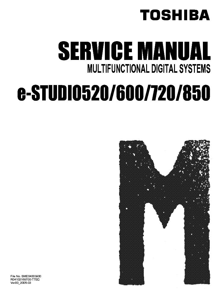 Service manual e studio 600 array toshiba e studio 520 600 720 850 service manual download schematics rh elektrotanya com fandeluxe Gallery